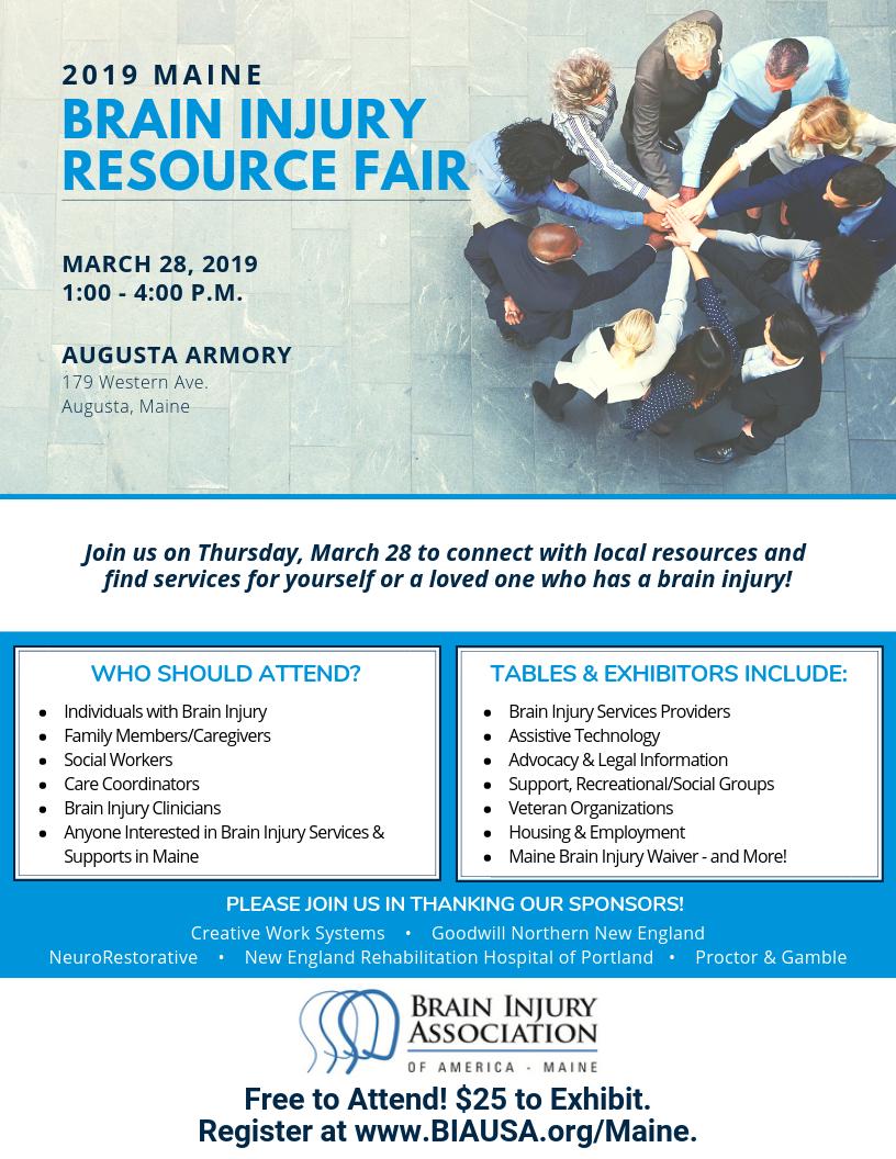 BIAA-ME's 2019 Maine Brain Injury Resource Fair   BIA Events
