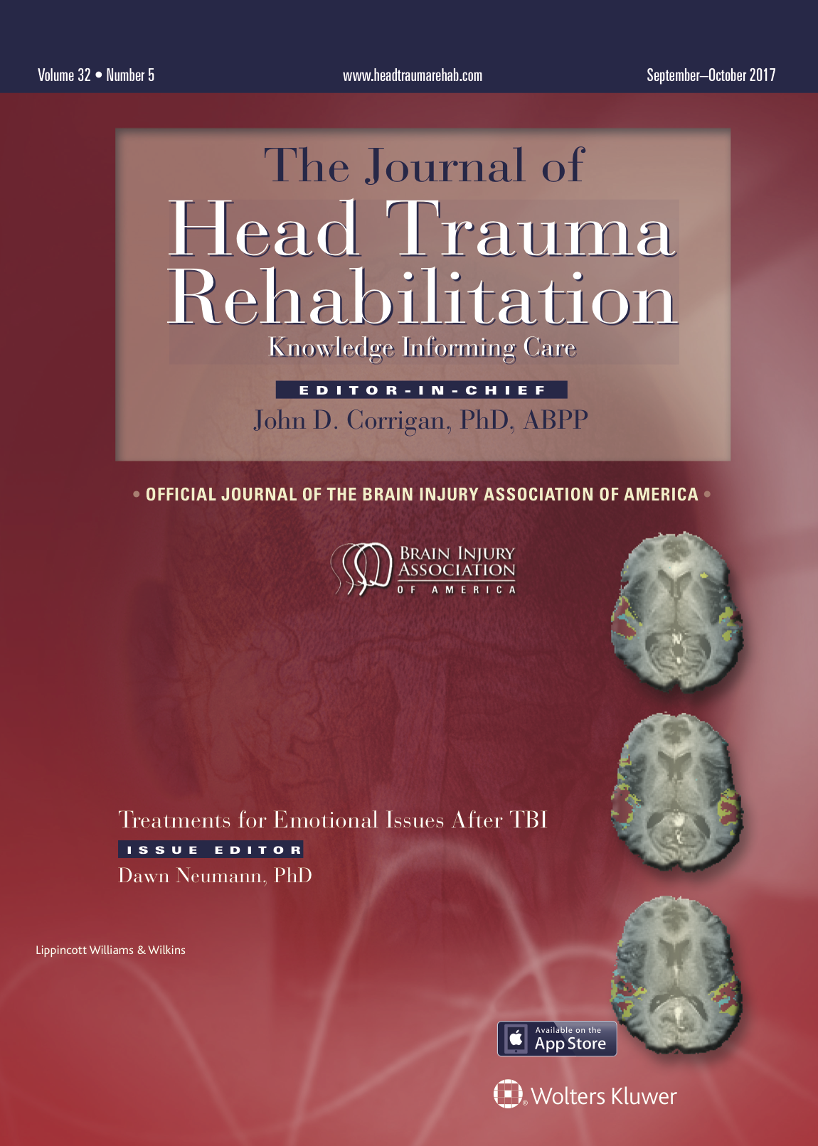 Head Trauma Rehabilitation Journal Cover