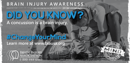 #ChangeYourMind Awareness Campaign: Concussion