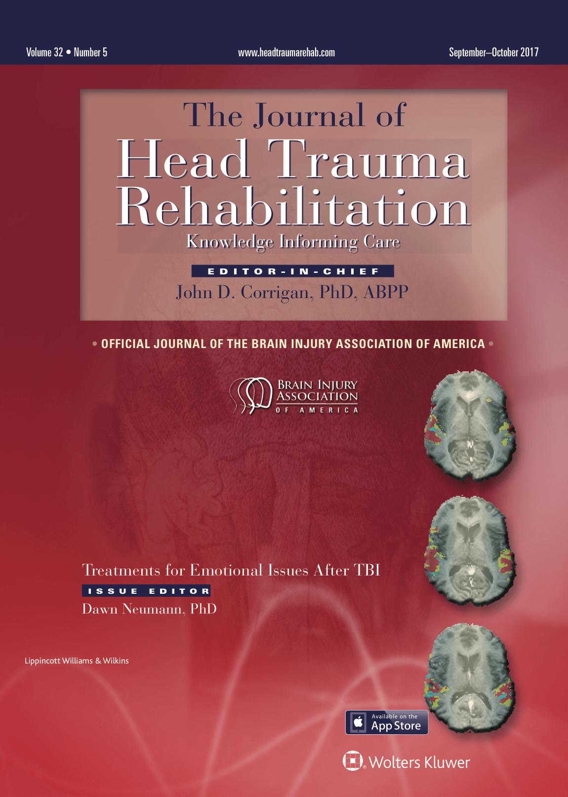 Journal of Head Trauma Rehabilitation Subscription
