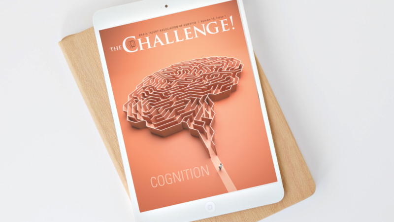 The Challenge Vol. 15 Iss. 1 on Cognition digital issue displayed on a tablet