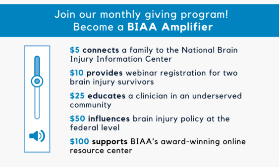 Join Our Monthly Giving Program and Become a BIAA Amplifier. Text describing how your gift sustains our services.